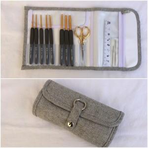 Pochette 8 crochets Etimo Gold