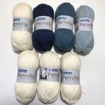 Hekla Pernilla blanc & bleu
