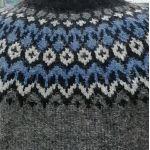 Pull Riddari gris & bleu L, XL