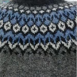 Pull Riddari gris & bleu XS