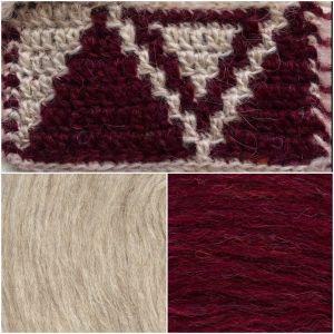 Red Wine Pocket shawl Plötulopi