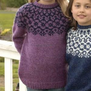 Pull ÉL violet 10, 12 ans