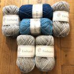 Draumur gris & turquoise L
