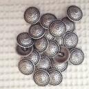 Boutons métal bouclier 20mm