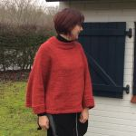Poncho MUSCARI rouge XL/XXL