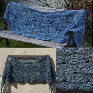 Châle Compostelle bleu jean