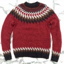 Pull JÓN rouge S, M