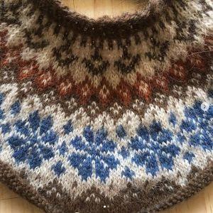 Hekla Plötulopi XL et XXL marron & bleu