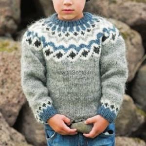 Pull garçon KAMBUR gris 4 ans