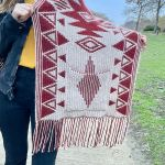 Cowboy Pocket shawl