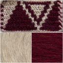 Red Wine Pocket shawl