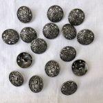 Boutons métal dentelle 20mm
